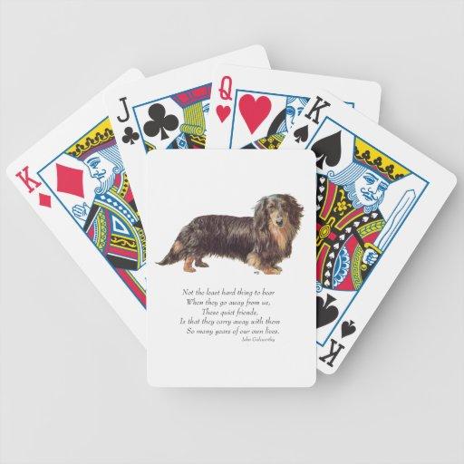 Dachshund Rainbow Bridge Bicycle Playing Cards