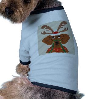 Dachshund Reindeer Pet Tshirt