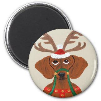 Dachshund Reindeer Magnet