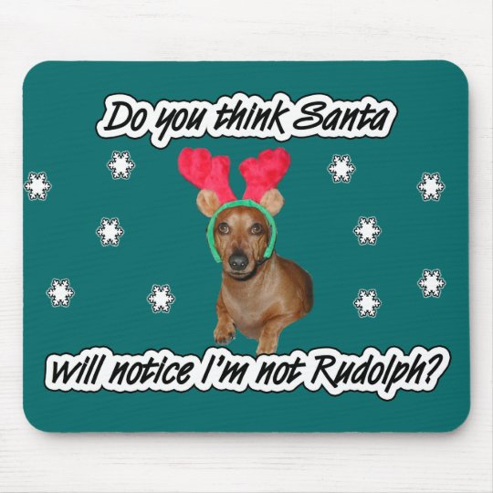 Dachshund Reindeer Mouse Pad