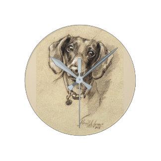 Dachshund round clock Dog lover gift