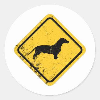 Dachshund Round Sticker