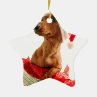 Dachshund santa - santa dog - dog gifts christmas ornament