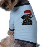 Dachshund Santa Tangled In Christmas Lights Dog Shirt