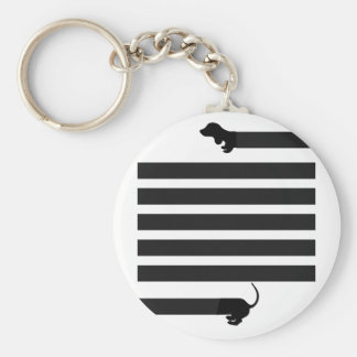 dachshund sausage dog key ring