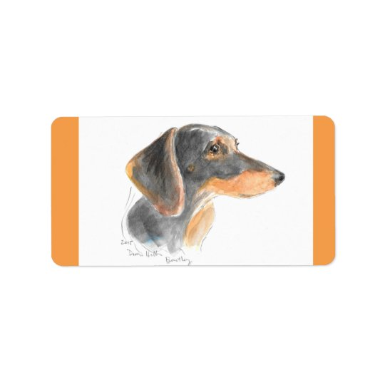Dachshund SHEET of labels /stickers
