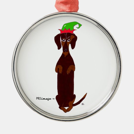 Dachshund Sidney Christmas Ornament