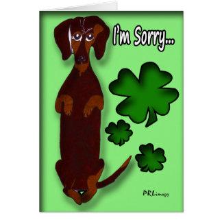 "Dachshund Sidney ""I'm Not Irish"" Card"