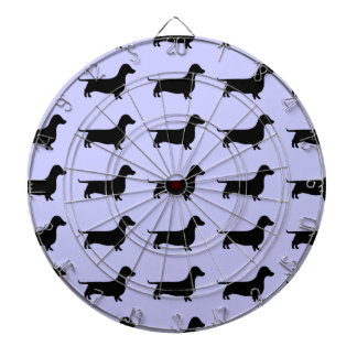 Dachshund Silhouette any color Dart Board