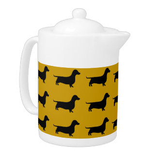Dachshund Silhouette any color Teapot