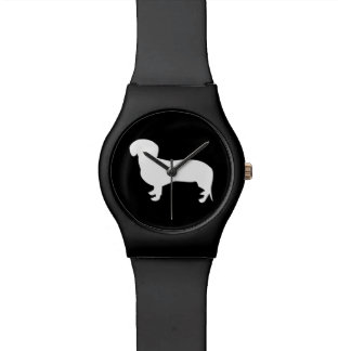 Dachshund Silhouette Black Watch