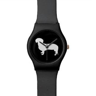 Dachshund Silhouette Black Wrist Watch