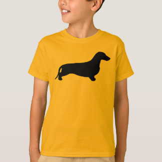Dachshund silhouette black + your ideas T-Shirt