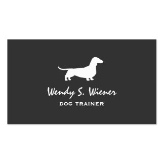 Dachshund Silhouette Pack Of Standard Business Cards
