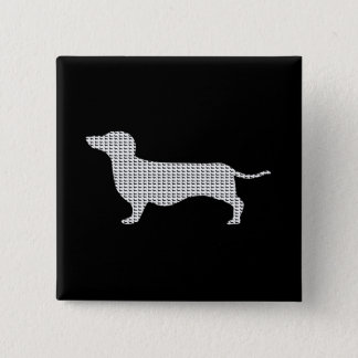 Dachshund Silhouette From Many 15 Cm Square Badge