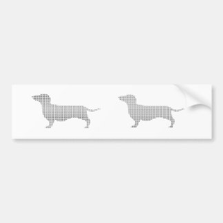 Dachshund Silhouette From Many Bumper Sticker