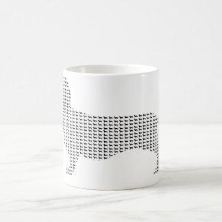 Dachshund Silhouette From Many Coffee Mug