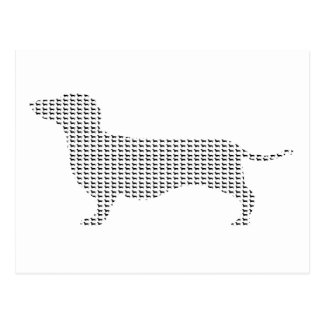 Dachshund Silhouette From Many Post Cards