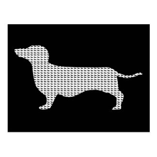Dachshund Silhouette From Many Postcard