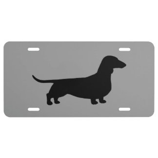 Dachshund Silhouette License Plate