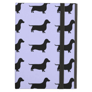Dachshund Silhouette Pattern on any color iPad Air Case