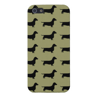 Dachshund Silhouette Pattern on any color iPhone 5/5S Case