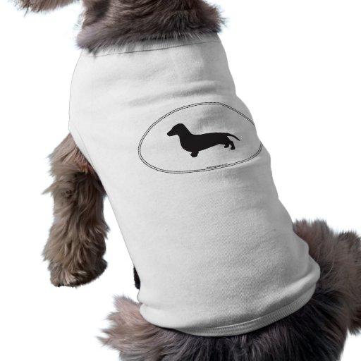 Dachshund Silhouette Sleeveless Dog Shirt