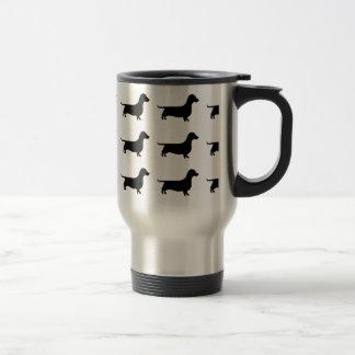 Dachshund Silhouette Stainless Steel Travel Mug