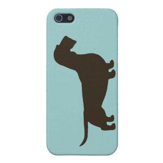 Dachshund Silhouette (Wirehaired Dachsie) iPhone 5 Case