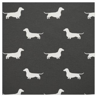 Dachshund Silhouettes Pattern Fabric