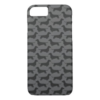 Dachshund Silhouettes Pattern iPhone 7 Case