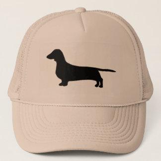 dachshund silo black.png trucker hat