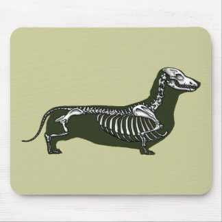 dachshund skeleton mouse mat