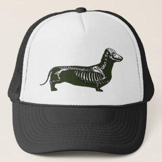 dachshund skeleton trucker hat