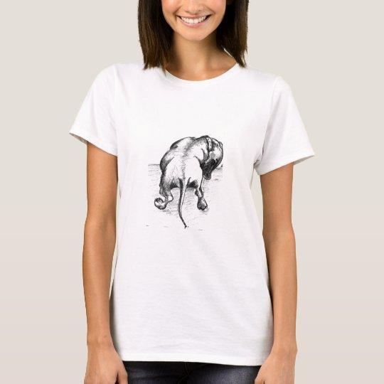 Dachshund sketch t shirt by Annabel Tarrant