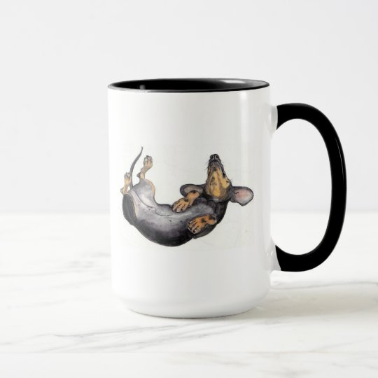 dachshund sleeping mug