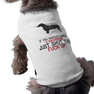 Dachshund Sleeveless Dog Shirt