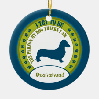 Dachshund [smooth] christmas ornament