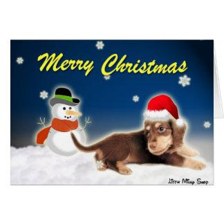 Dachshund Snowman (Customizable) Card
