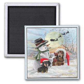 Dachshund Snowman Gifts Magnet