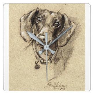 Dachshund square clock Dog lover gift