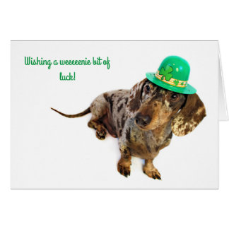 Dachshund St. Patty's Day Card