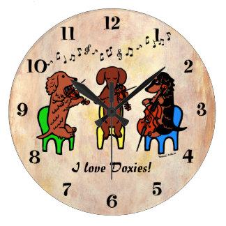 Dachshund String Trio Wall Clocks