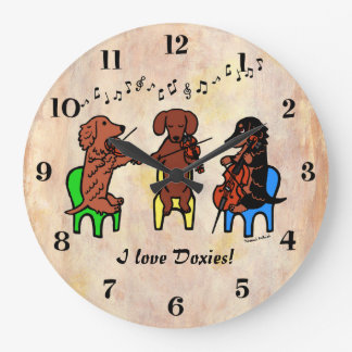 Dachshund String Trio Clocks