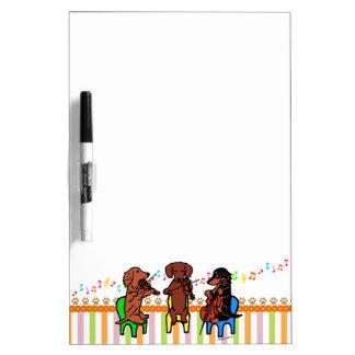 Dachshund String Trio Dry-Erase Boards