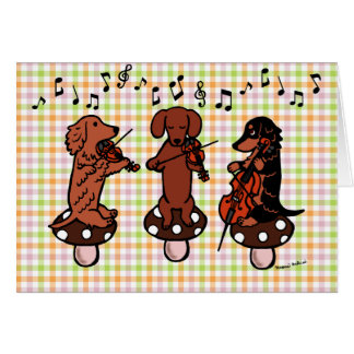 Dachshund String Trio Musicians Card
