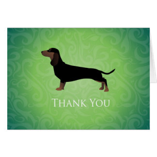 Dachshund Thank You Design Card