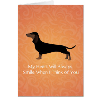 Dachshund - Thinking of You Design Card