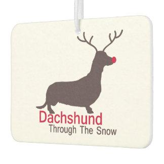 Dachshund Through The Snow Car Air Freshener