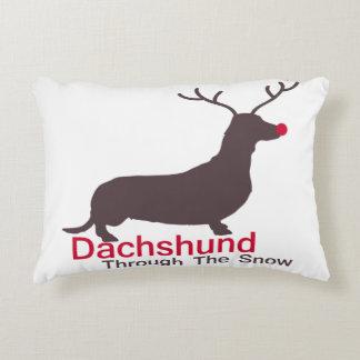 Dachshund Through The Snow Decorative Cushion